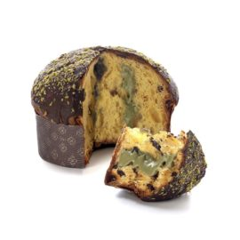 panettone pistacchio e cioccolato di modica